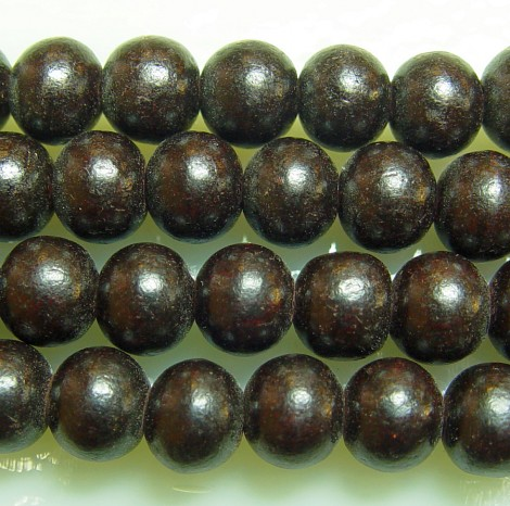 Rosewood (dark), 10mm, 50ct Loose