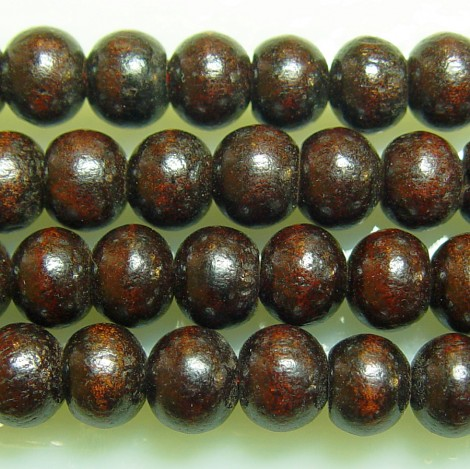 Rosewood (dark), 8mm, 50ct Loose