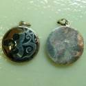 Sterling Silver Om Inlay, Onyx